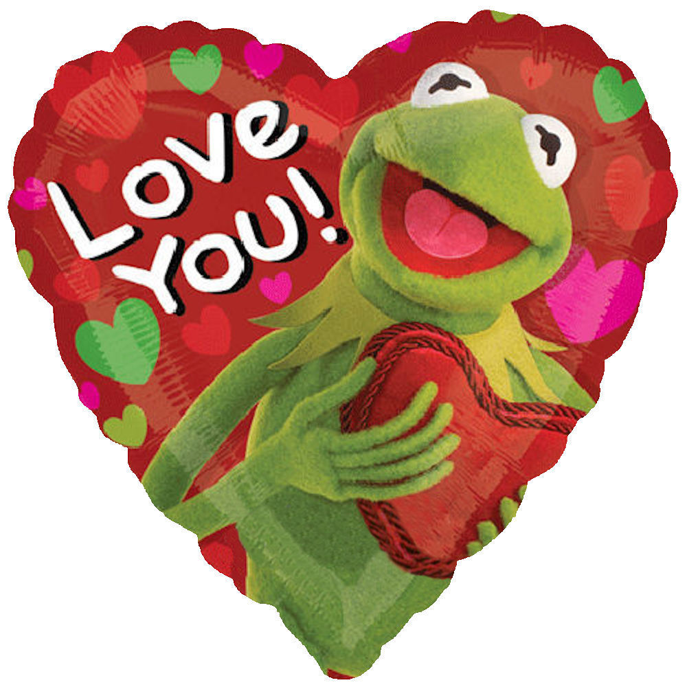 "18"" Kermit the Frog Balloon Love You!"