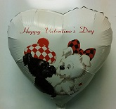 "18"" Happy Valentine&#39s Puppies"