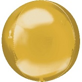 "16"" Orbz Gold Balloon"
