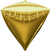 "16"" Diamondz Gold Balloon"