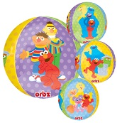 "16"" Sesame Street Characters Orbz Balloons"