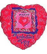 "4"" Airfill Silver Valentines Day Brush Script Heart"