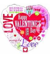 "18"" Happy Valentine&#39s Day Messages"