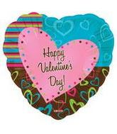 "18"" Happy Valentine&#39s Day Colorful"