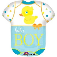 "24"" Baby Boy Bodysuit Mylar Balloon"