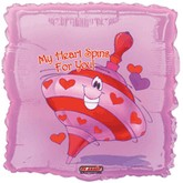 "18"" My Heart Spins For You Balloon"