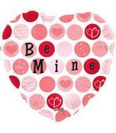"18"" Be Mine Dots Mylar Balloon"