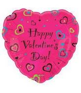 "18"" Happy Valentine&#39s Day Magic Hearts"