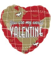 "18"" You are My World Valentine"