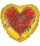 "18"" Happy Valentine&#39s Day Golden Heart"