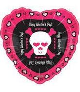 "18"" Happy Valentine&#39s Day Skull"