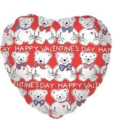 "18"" Happy Valentine&#39s Day Bears"