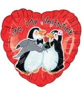 "18"" Be My Valentine Penguins"