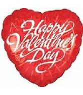 "18"" Happy Valentine's Day Script Red"
