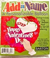 "18"" Happy Valentines Add-A-Name"