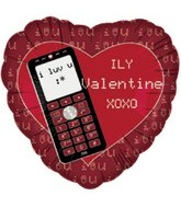 "18"" I Love You Valentine Text"
