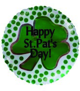 "2"" Airfill Happy St. Patricks Day Shamrock"
