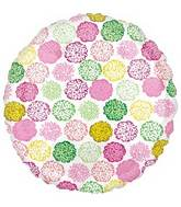"18"" Floral Collage Foil Balloon"
