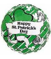"18"" Happy St. Patricks Day Clovers & Scroll"