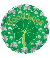 "18"" Good Luck Green Silver Shamrock"