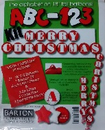 "18"" ABC-123 Kit ""Merry Christmas"" Red/White"