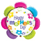 "30"" Happy Mother&#39s Day Flower Shape Balloon"