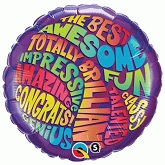 "18"" Totally Fun Congrats Messsages Balloon"