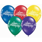 "11"" Happy Graduation Latex Assortment Balloon"