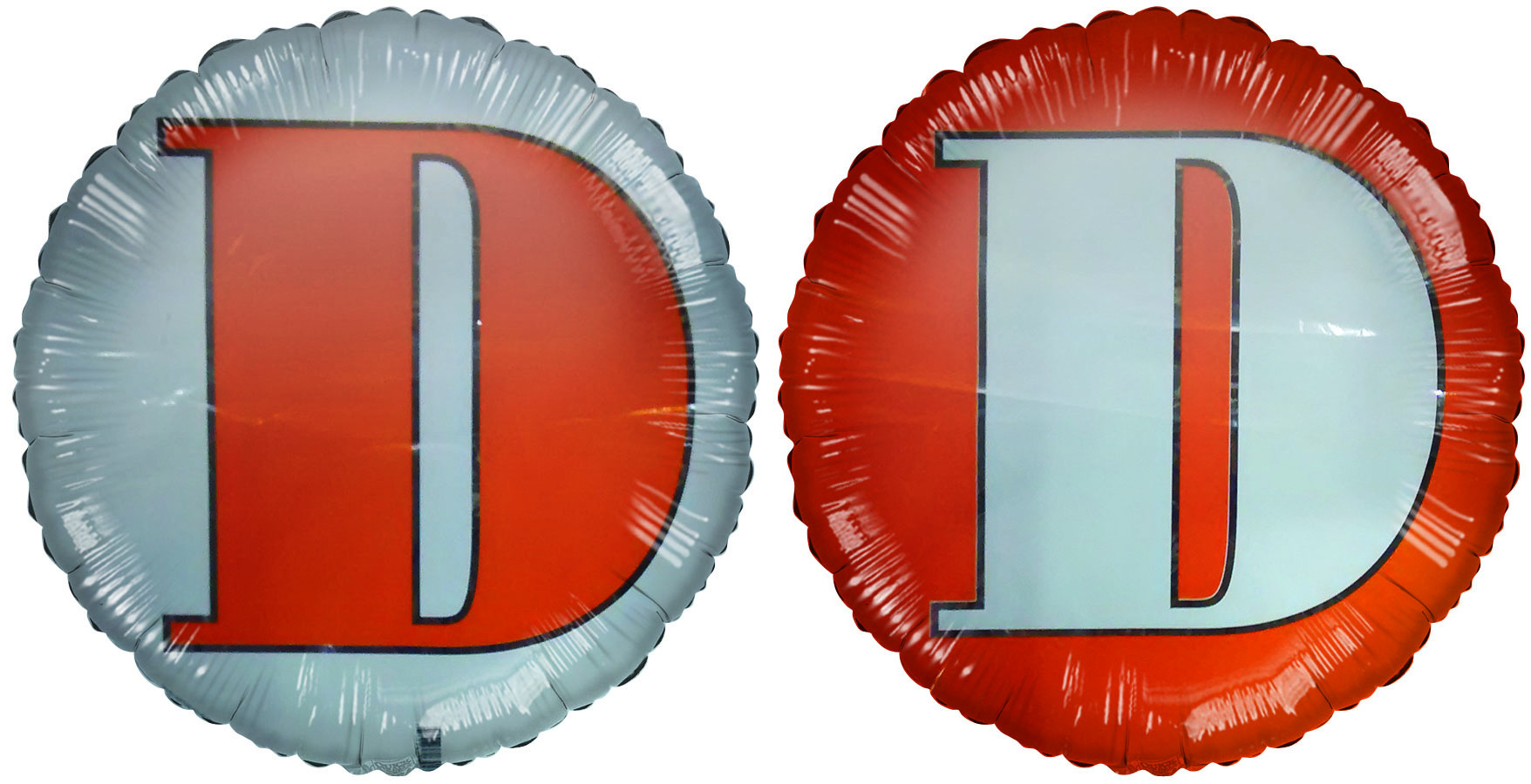 "18"" Letter D Orange & White Foil Balloon"