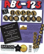 "18"" ABC-123 Kit ""Happy New Year"" Gold/Black"