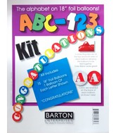 "18"" ABC-123 Kit Colorful Congratulations Foil Balloon"