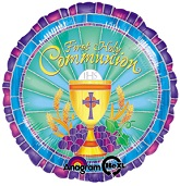 "18"" Faith Communion Mylar Balloon"