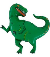 "36"" Jumbo Green T-Rex Shaped Mylar Balloon (Disc)"