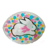 White Bunny Watercolors Happy Easter Airfill Balloon