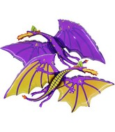 "36"" Purple Dragon Balloon"