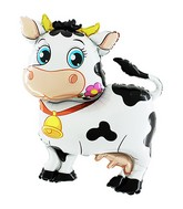 "45"" Jumbo Cute Cow Shaped Mylar Balloon"