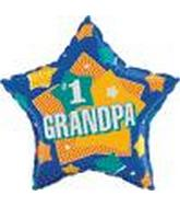 "18"" #1 Grandpa Balloon"