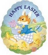 "4"" Happy Easter Dandy Rabbit"