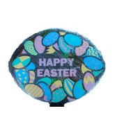 "4"" Airfill Happy Easter Many Eggs Balloon"