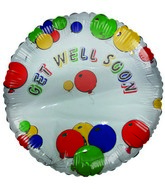 "18"" Get Well Soon Write-a-Name Personalized Mylar Balloon"