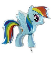 "30"" My Little Pony Rainbow Foil Balloon"