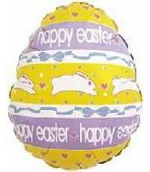 "18"" Happy Easter Egg Hopping Rabbits"