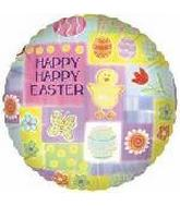 "18"" Happy Easter Collage Balloon"