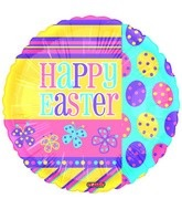"18"" Happy Easter Fun Mylar Balloon"