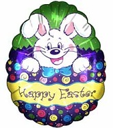 "18"" Happy Easter Bunny Egg Shape Balloon"