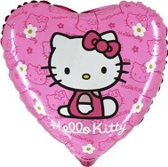 "18"" Hello Kitty Sitting Pink Heart Balloon (Disc)"
