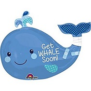 "34"" SuperShape Get Whale Soon Balloon"