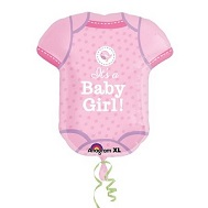 "24"" SuperShape Shower With Love Girl Balloon"