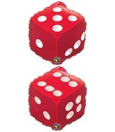 "18"" Dice Dice Foil Balloon"
