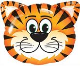 "30"" Mylar Tickled Tiger Balloon"